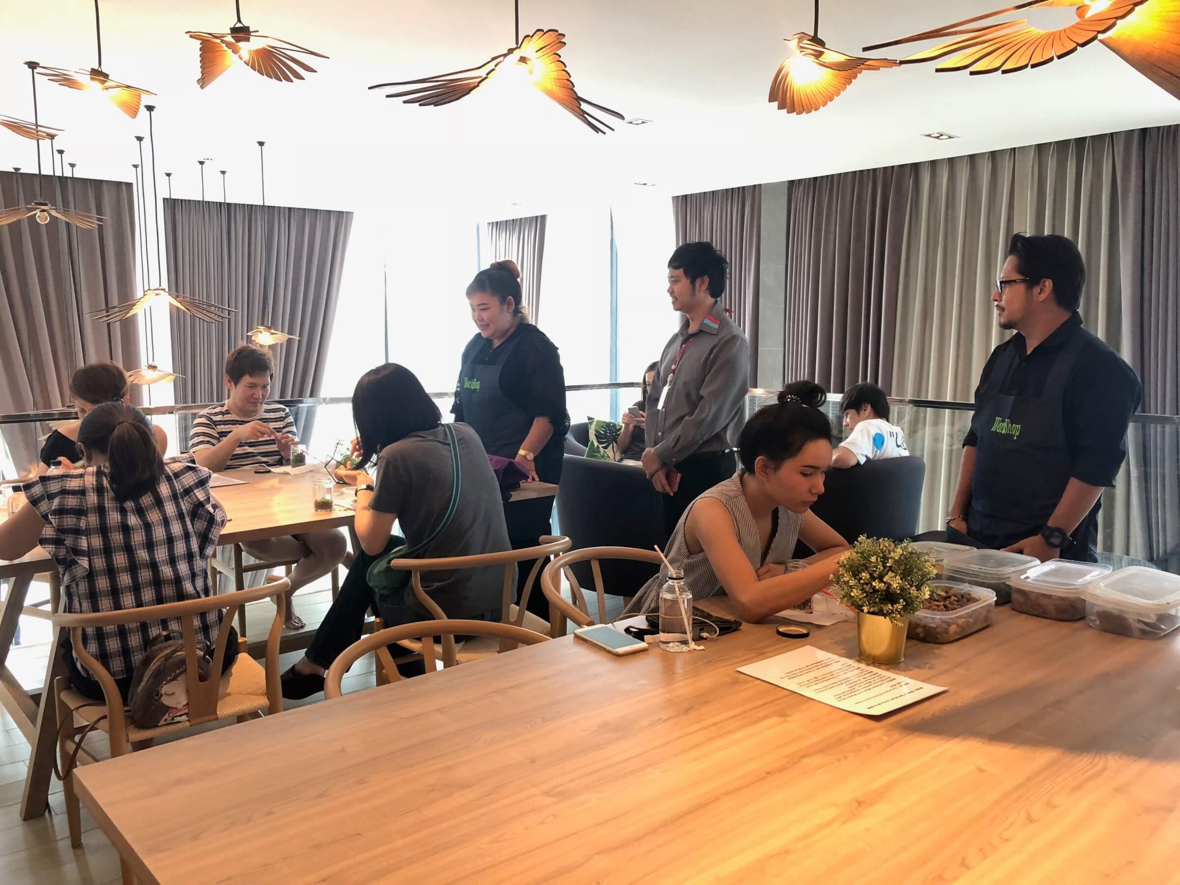รวมภาพบรรยากาศกิจกรรมพิเศษ Terrarium Workshop